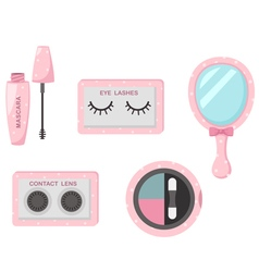 cosmetics eye set vector image