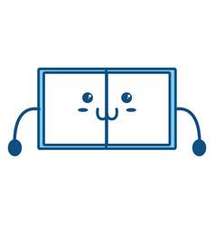 cute book kawaii vector image
