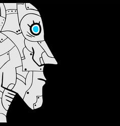face robot vector image vector image