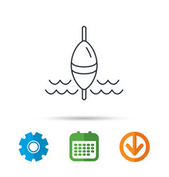 fishing float icon fisherman bobber sign vector image