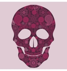 Floral skull ornate vector