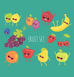 fruit on a bicycle vector image vector image