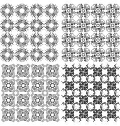 Geometric seamless patterns set arabic backgrounds vector image