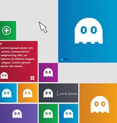Ghost icon sign buttons modern interface website vector