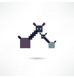 Giraffe icon vector image vector image