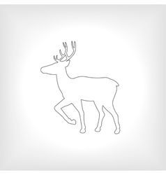 Icon or emblem deer vector