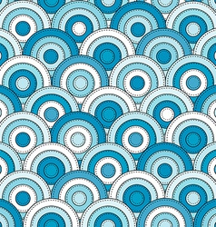 Japanese style seamless with circles vector image vector image
