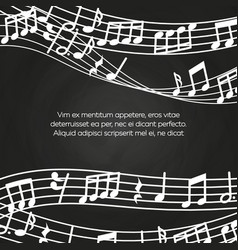 musical blackboard background design - chalkboard vector image vector image