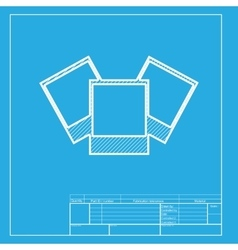 Photo sign White section of icon on vector image
