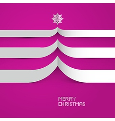 Pink Abstract Merry Christmas Background vector image vector image