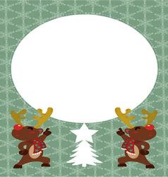 Reindeer postcard vector