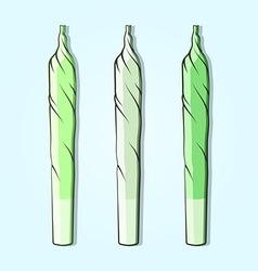Roll-up with hemp in flat style vector