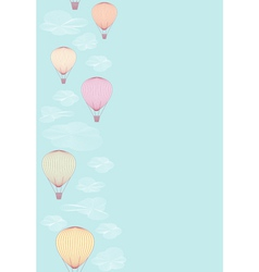 Seamless side border made of balloons vector image vector image
