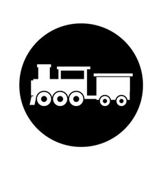 Steam train silhouette isolated icon vector