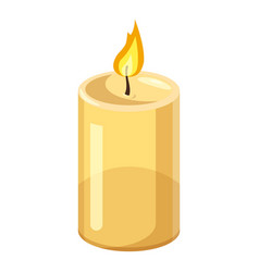 Thick candle icon cartoon style vector