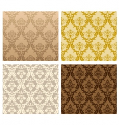 vintage damask patterns vector image vector image