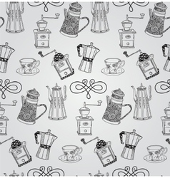 Vintage Hand Drawn Seamless Pattern vector image vector image