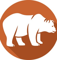 Wild bear icon vector