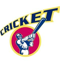 cricket sports batsman batting vector image