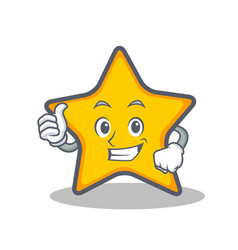 thumbs up star character cartoon style vector image