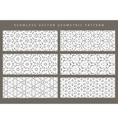set of eight seamless patterns vector image
