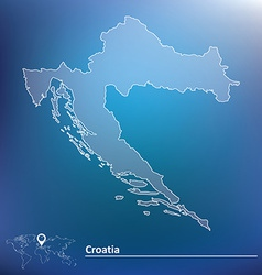 Map of croatia vector