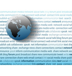 global communication social media network connecti vector image