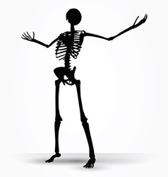 Skeleton silhouette in power pose vector