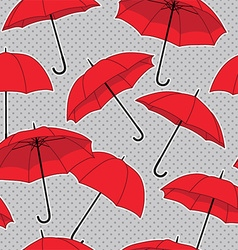 Umbrella pattern background vector image