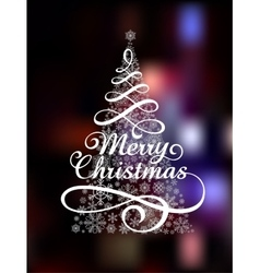 Magic christmas tree on abstract colorful vector
