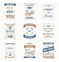 Quotes typography retro set vector