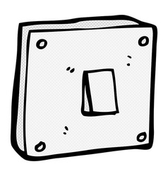 Comic cartoon light switch vector