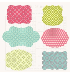 vintage colorful design vector image