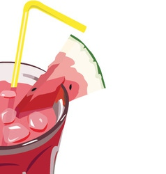 Watermelon cocktail vector