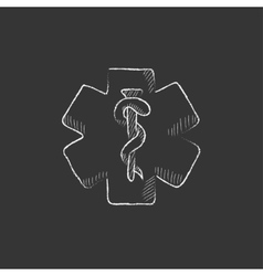 Medical symbol drawn in chalk icon vector