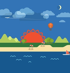 Summer seaside vacation vector