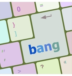 Bank word on keyboard key notebook computer vector