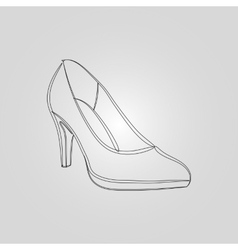 Icon image of elegant high-heeled shoes vector