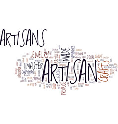Artisan crafts are special text background word vector