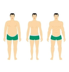 before and after diet weight loss vector image