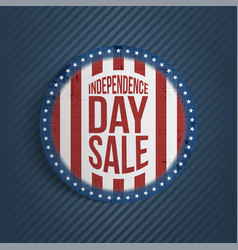 circle independence day sale realistic banner vector image