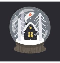 Decorative of handdrawn snow globe vector