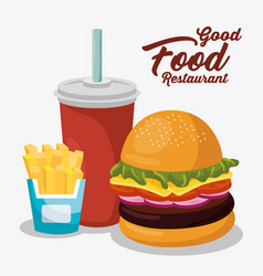 Delicious fast food menu vector