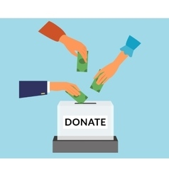 Donate vector image