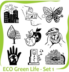 ECO - Green Life - set 1 vector image vector image