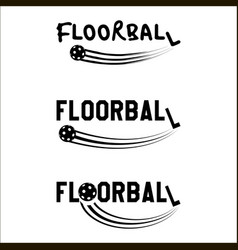 Floorball logo text vector