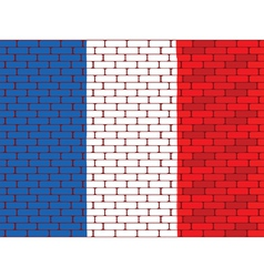 france brick wall vector image vector image