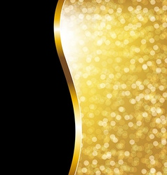 Golden Bokeh Holiday Poster vector image vector image