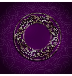 Golden Round Abstract Frame vector image vector image