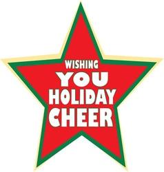 Holiday cheer vector